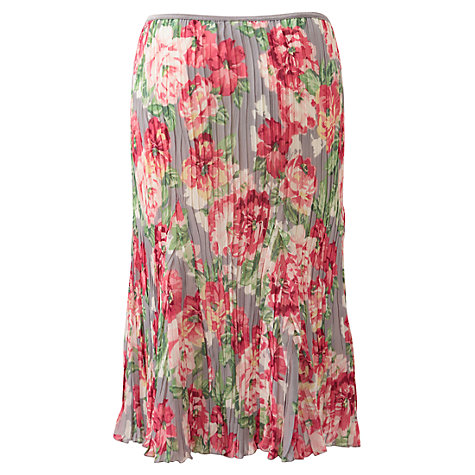 Buy East Louisa Flower Skirt, Light Steel Online at johnlewis.com