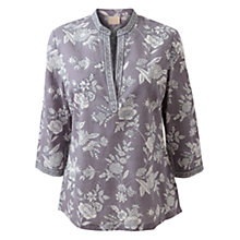 Buy East Jouy Flower Tunic Top, Light Steel Online at johnlewis.com