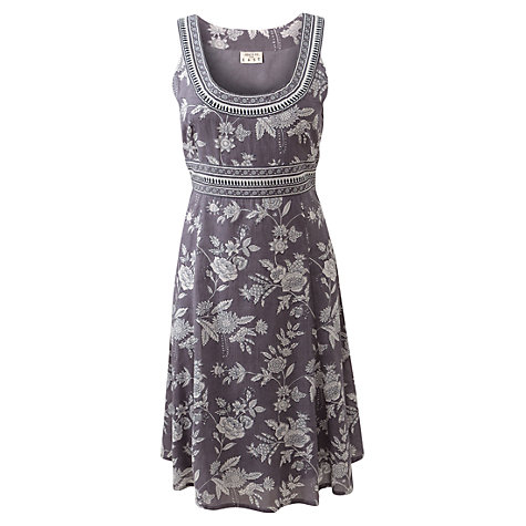 Buy East Jouy Flower Dress, Light Steel Online at johnlewis.com