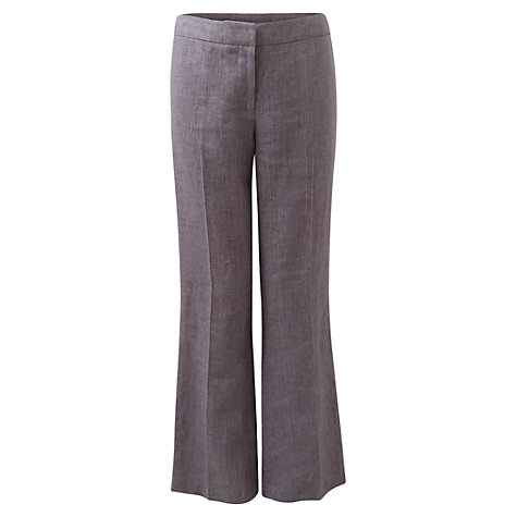 Buy East Victoire Linen Trousers, Light Steel Online at johnlewis.com