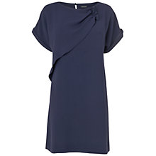 Buy Jaeger London Gathered Detail Dress, Navy Online at johnlewis.com
