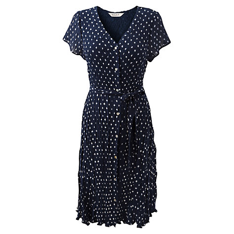 Buy East Ikat Spotted Bubble Dress, Royal Blue Online at johnlewis.com