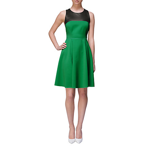 Buy Jaeger London Racer Dress, Green Online at johnlewis.com
