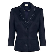 Buy Precis Petite Linen Jacket, Navy Online at johnlewis.com