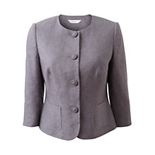 Buy East Victoire Linen Jacket, Light Steel Online at johnlewis.com