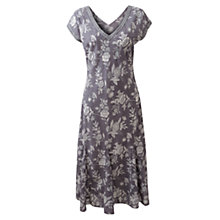 Buy East Jouy Flower V-Neck Dress, Light Steel Online at johnlewis.com
