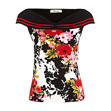 Buy Precis Petite Rosa Print Bardot Top, Multi Online at johnlewis.com