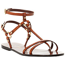 Buy Pied A Terre Leewana Multi Strap T-Bar Sandals, Brown Online at johnlewis.com