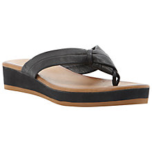 Buy Bertie Jinfer Leather Sandals, Black Online at johnlewis.com