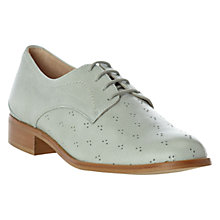 Buy Hobbs Millie Leather Derby Shoes, Mint Online at johnlewis.com