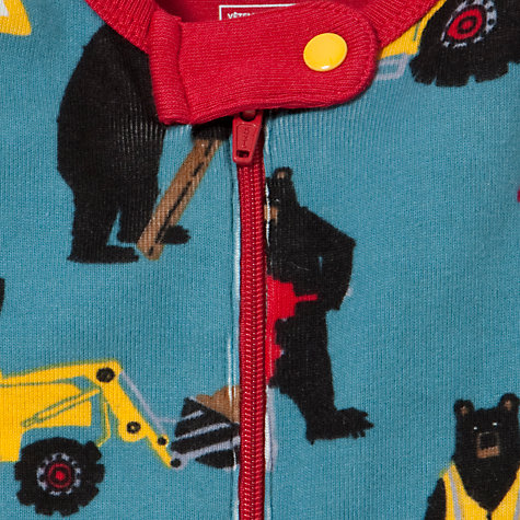 Buy Hatley Bear the Builder Sleepsuit, Blue Online at johnlewis.com