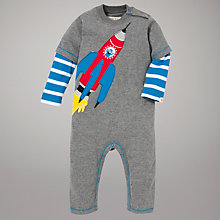 Buy Hatley Rocket Romper, Grey Online at johnlewis.com