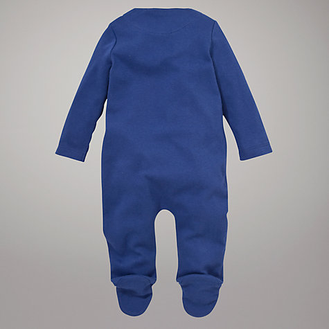 Buy John Lewis Baby Little Monster Sleepsuit, Blue Online at johnlewis.com