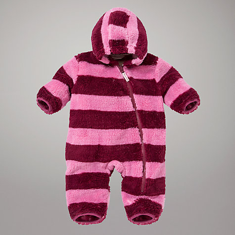 Buy Hatley Baby Rugby Stripe Romper, Pink Online at johnlewis.com