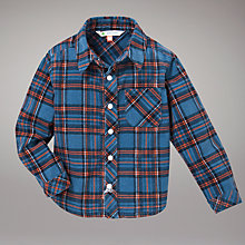 Buy John Lewis Corduroy Checked Shirt, Blue Online at johnlewis.com