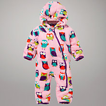 Buy Hatley Owl Sleepsuit, Pink Online at johnlewis.com