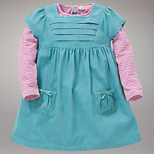 Buy John Lewis Corduroy Pinafore Dress and Striped Top, Blue Online at johnlewis.com