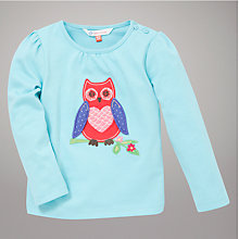 Buy John Lewis Owl Top, Blue Online at johnlewis.com