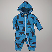Buy Hatley Bear Snowsuit, Blue Online at johnlewis.com