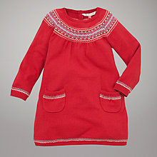 Buy John Lewis Fair Isle Knitted Dress, Red Online at johnlewis.com