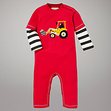Buy Hatley Bear Builder Romper, Red Online at johnlewis.com