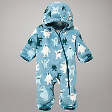 Buy Hatley Ice Monsters Sleepsuit, Blue Online at johnlewis.com