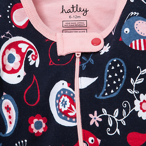 Buy Hatley Paisley Birds Sleepsuit Online at johnlewis.com