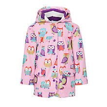 Buy Hatley Owl Raincoat, Pink Online at johnlewis.com