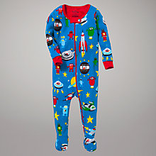 Buy Hatley Spaceships Sleepsuit Online at johnlewis.com