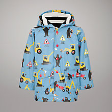 Buy Hatley Bear the Builder Raincoat, Blue Online at johnlewis.com