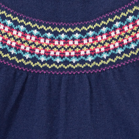 Buy John Lewis Fair Isle Knitted Dress, Navy Online at johnlewis.com