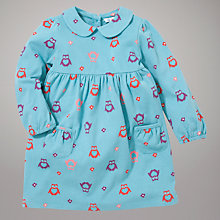 Buy John Lewis Owl Jersey Dress, Teal Online at johnlewis.com