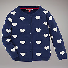 Buy John Lewis Heart Cardigan, Navy Online at johnlewis.com