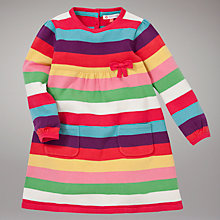 Buy John Lewis Striped Knitted Dress, Multi Online at johnlewis.com