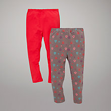 Buy John Lewis Owl Leggings, Pack of 2, Red/Multi Online at johnlewis.com