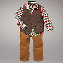 Buy John Lewis Waistcoat, Shirt and Corduroy Trousers Set, Brown Online at johnlewis.com
