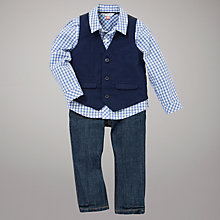 Buy John Lewis Waistcoat, Shirt and Jeans Set, Navy Online at johnlewis.com