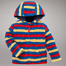 Buy John Lewis Zip Through Striped Fleece Hoodie, Multi Online at johnlewis.com