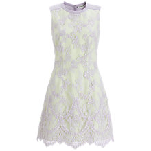 Buy Whistles Ella Lace Dress, Purple/Multi Online at johnlewis.com