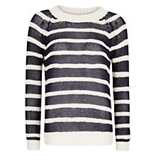 Buy Mango Striped Knit Jersey Top, Navy Online at johnlewis.com