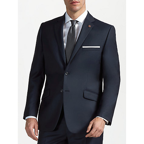 Buy Paul Costelloe Wool Mohair Tailored Suit Jacket, Navy Online at johnlewis.com