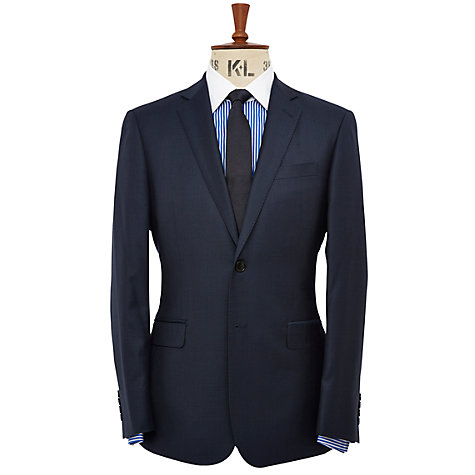 Buy Richard James Mayfair Slim Fit Pick and Pick Wool Suit Jacket, Navy Online at johnlewis.com