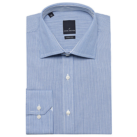 Buy Daniel Hechter Fine Stripe Long Sleeve Shirt Online at johnlewis.com