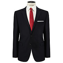 Buy John Lewis Herringbone Tailored Suit Jacket, Navy Online at johnlewis.com