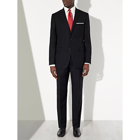 Buy John Lewis Herringbone Suit Trousers, Navy Online at johnlewis.com