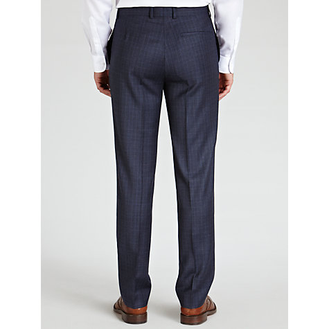 Buy Richard James Mayfair Tone Check Suit Trousers, Navy Online at johnlewis.com