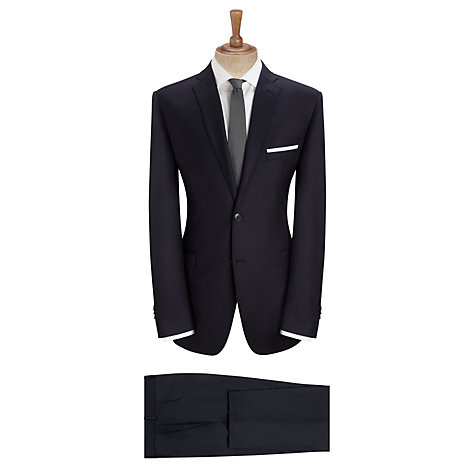 Buy Daniel Hechter Twill Stretch Travel Tailored Suit Trousers, Navy Online at johnlewis.com