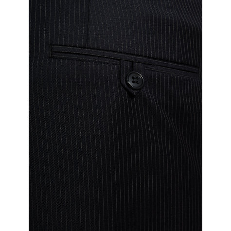 Buy John Lewis Stripe Travel Suit Trousers, Navy Online at johnlewis.com