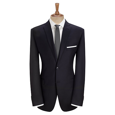 Buy Daniel Hechter Twill Stretch Travel Tailored Suit Jacket, Black Online at johnlewis.com