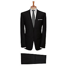 Buy John Lewis Herringbone Tailored Suit Trousers, Charcoal Online at johnlewis.com